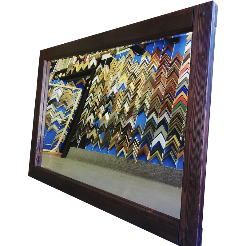 Zrcadlo - extrémně velké masivní ruční práce 182x119,5 cm