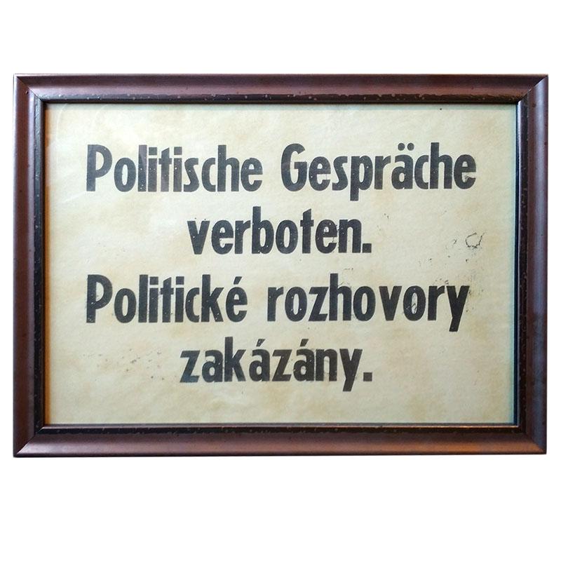 Politické rozhovory zakázány
