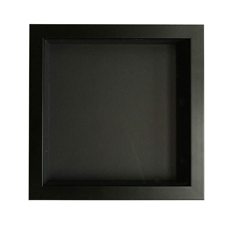 Kazetka 20x20 cm černá, hloubka 35mm (zarámuj si sám)