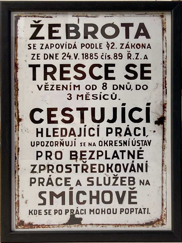 Cedule - Žebrota | 24x32,5 cm (Zarámovaný obraz)