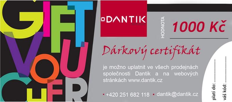 Dantik, dárkový certifikát na rámování, weby a další služby za 25 EUR + záruka 3 roky