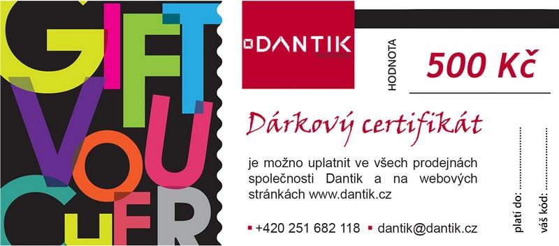 Dantik, dárkový certifikát na rámování, weby a další služby za 10 EUR