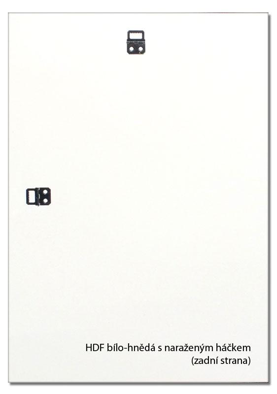 Zadní deska k rámu HDF 3mm bílo-hnědá s háčkem 32,8x94,5 / 94,5x32,8 + záruka 3 roky