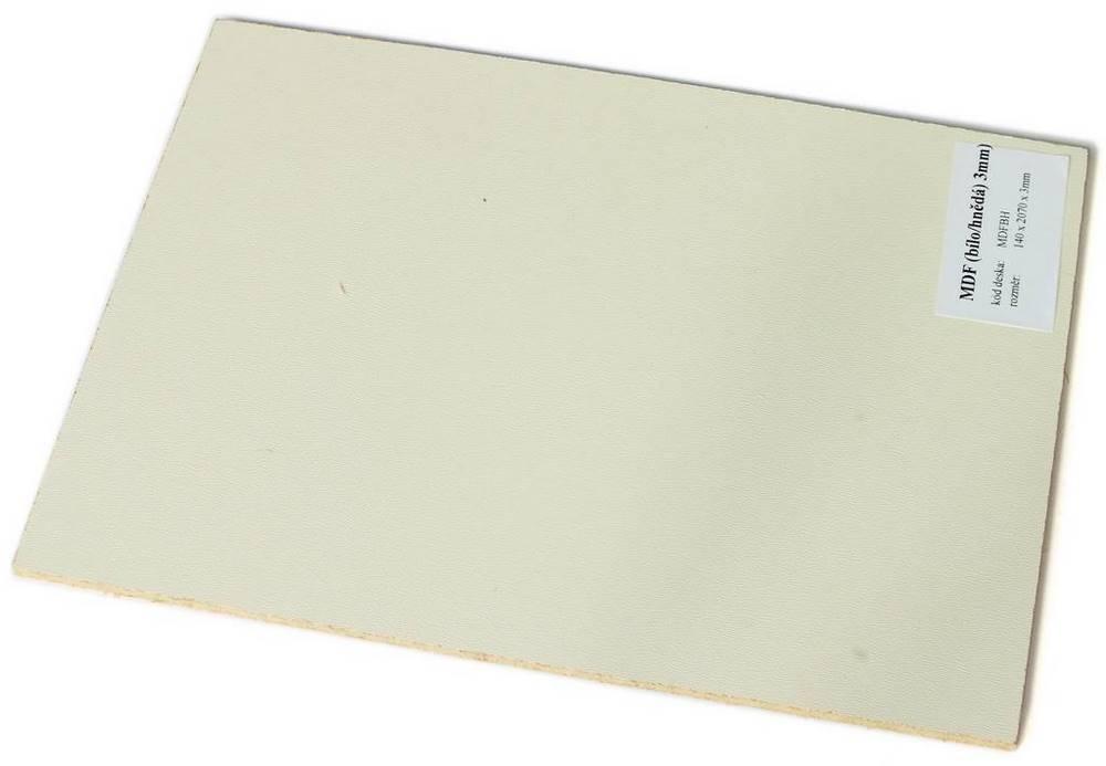 MDFBH   Podklad - MDF 3 mm (hnědobílá)