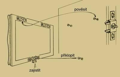 Zámek na obrazy (klíč)