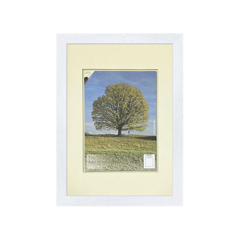 40x60 | Rámeček Kiel bílá SKLO čiré [BN] (Vyberte si formát)