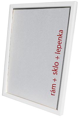 Dantik, Rámeček na fotky A4 - (Kostička bílá matná)
