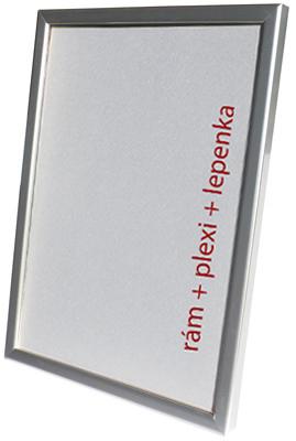 Dantik, Rámeček na fotky A4 - (Kostička stříbrná) + záruka 3 roky