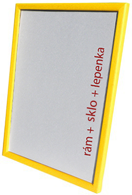 Dantik, Rámeček na fotky A4 - (Kostička žlutá) + záruka 3 roky