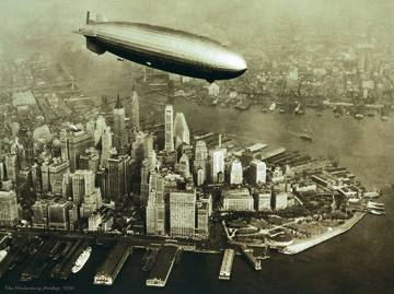 Reprodukce obrazu 80 x 60 / The Hindenburg Airship, 1936 ( City Susan ) + záruka 3 roky