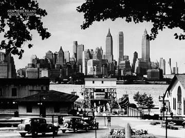 Reprodukce obrazu 80 x 60 / New York Island ( Liby )