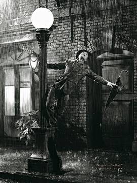 60 x 80 / Gene Kelly singing in the Rain ( Liby  )