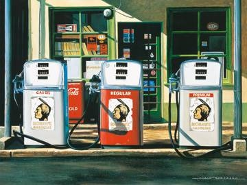 Reprodukce obrazu 80 x 60 / Mohawk gazoline ( Bertrand Alain )