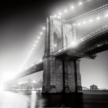 Reprodukce obrazu 68 x 68 / Brooklyn Bridge ( Garelick Adam )