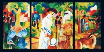 Reprodukce obrazu 100 x 50 / Zoologischer Garten ( Macke August )