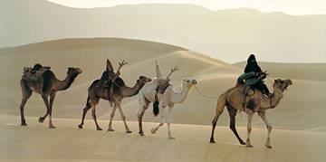 Reprodukce obrazu 100 x 50 / Caravane, Niger ( Ascani Maurice )