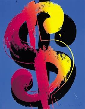 Reprodukce obrazu 60 x 80 / Dollar ( Warhol Andy )