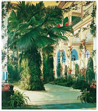 84x96 | Interior of a Palm House ( Blechen Karl )