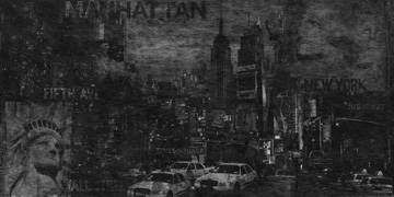 Reprodukce obrazu 100 x 50 / Manhattan ( Clarke John )