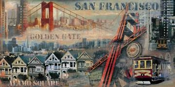 Reprodukce obrazu 100 x 50 / San Francisco ( Clarke John ) + záruka 3 roky