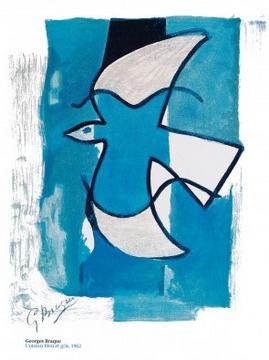 Reprodukce obrazu 60 x 80 / L'oiseau bleu et gris ( Braque Georges )