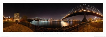 Reprodukce obrazu 95 x 33 / New York Skyline at Night ( Grube Patrick )