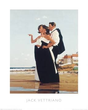 Reprodukce obrazu 40 x 50 / The Missing Man II ( Vettriano Jack )