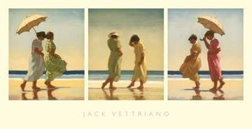 Reprodukce obrazu 70 x 36 / Summer Days - Triptych ( Vettriano Jack )