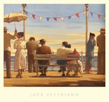 Reprodukce obrazu 72 x 67 / The Pier ( Vettriano Jack )