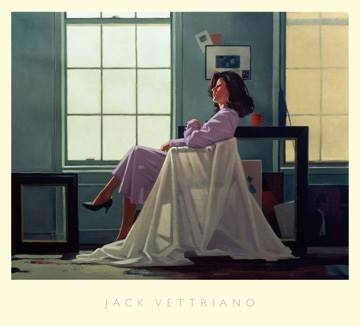 Reprodukce obrazu 76 x 68 / Winter Light and Lavender ( Vettriano Jack )