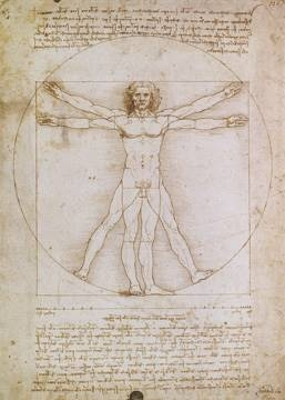 Reprodukce obrazu 50 x 70 / Proporzioni dell'uomo secondo ( Da Vinci Leonardo ) + záruka 3 roky