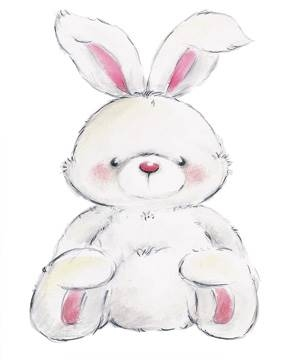 Reprodukce obrazu 24 x 30 / Rabbit ( Makiko )