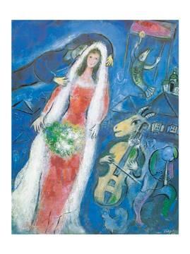 Reprodukce obrazu 60 x 80 / La Mariee, 1950 ( Chagall Marc )