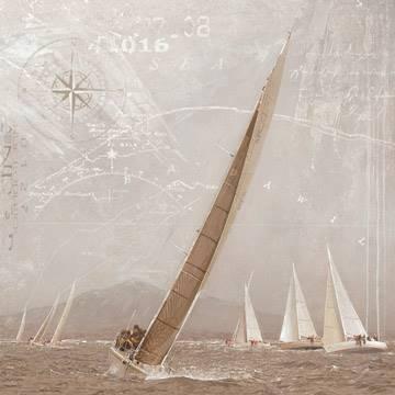 Reprodukce obrazu 70 x 70 / Yachting I ( Maarten Gieben )