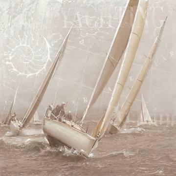 Reprodukce obrazu 70 x 70 / Yachting II ( Maarten Gieben )
