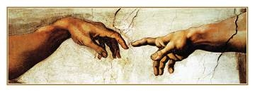 Reprodukce obrazu 70 x 25 / Creation of Adam ( Michelangelo )