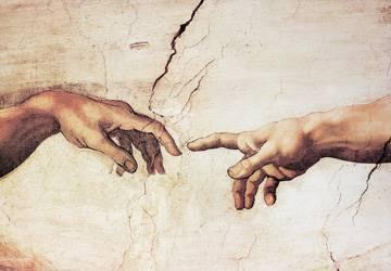 Reprodukce obrazu 100 x 70 / Creazione di Adamo ( Michelangelo )
