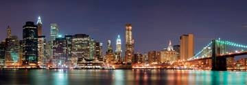 Reprodukce obrazu 95 x 33 / New York City with Brooklyn Brid ( Shutterstock )