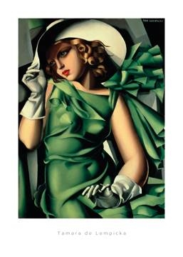 50 x 70 / Young Lady with Gloves ( De Lempicka Tamara )