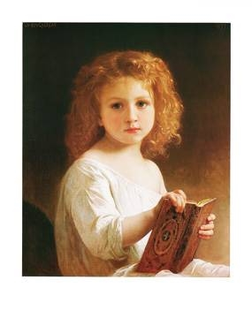 57x72 | The Story Book ( Bouguereau William )