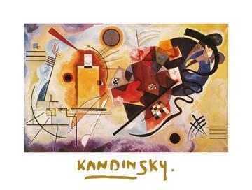 Reprodukce obrazu 80 x 60 / Jaune, Rouge, Bleu ( Kandinsky Wassily ) + záruka 3 roky