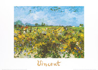 70x50 | The green vineyard ( Van Gogh Vincent )