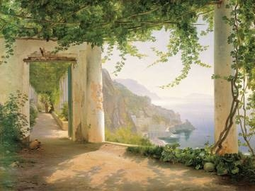 Reprodukce obrazu 101 x 76 / Amalfi Cappuccini ( Aagaard Carl Frederic )