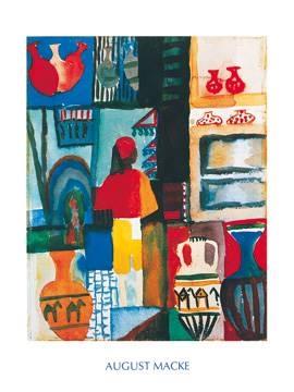 Reprodukce obrazu 60 x 80 / Merchant with Jugs ( Macke August )