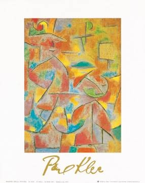 Reprodukce obrazu 24 x 30 / Bimba e zia, 1937 ( Klee Paul )