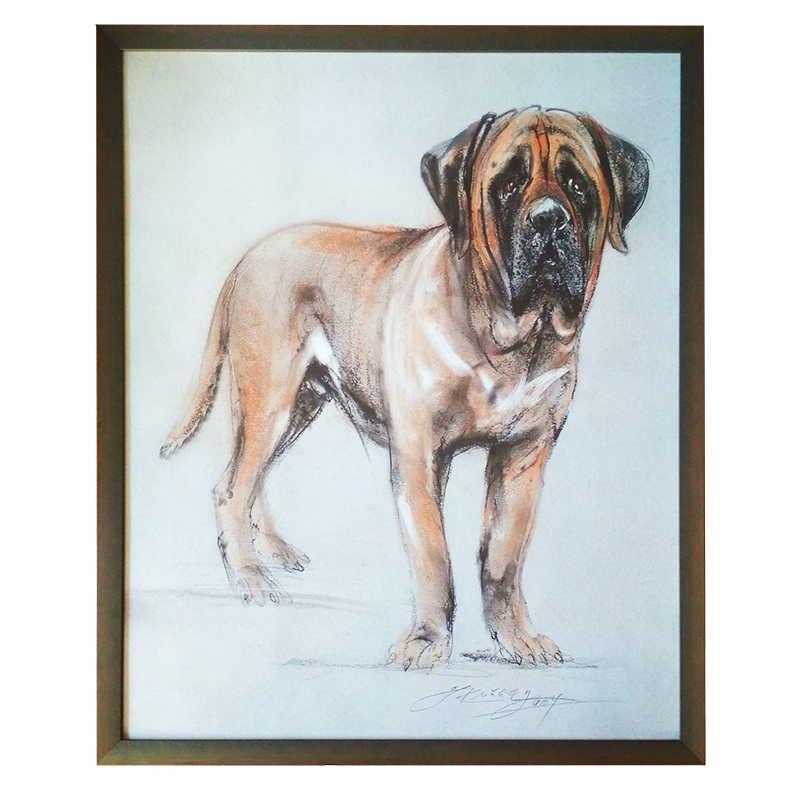Pes | Kuklík | 50x60 cm (Zarámovaný obraz)