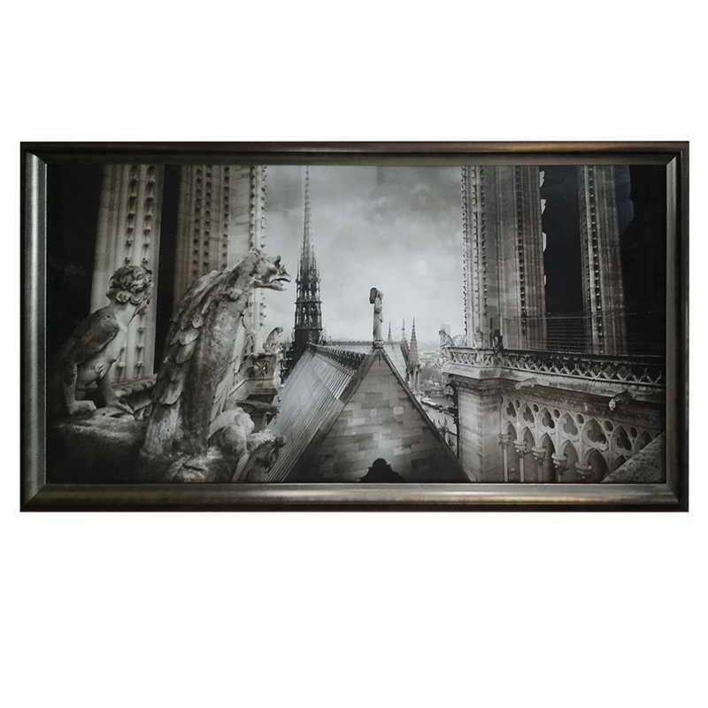 Paris - Gargouilles de Notre Dame |  | 106x56 cm (Zarámovaný obraz)