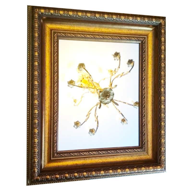 Zrcadlo v rámu | 39x45 cm (Zarámovaný obraz)