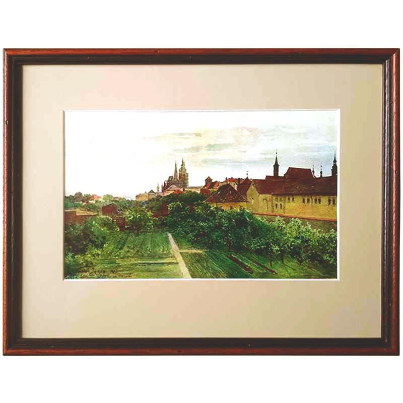 Praha | Jansa Václav | 36x28cm (Zarámovaný obraz)