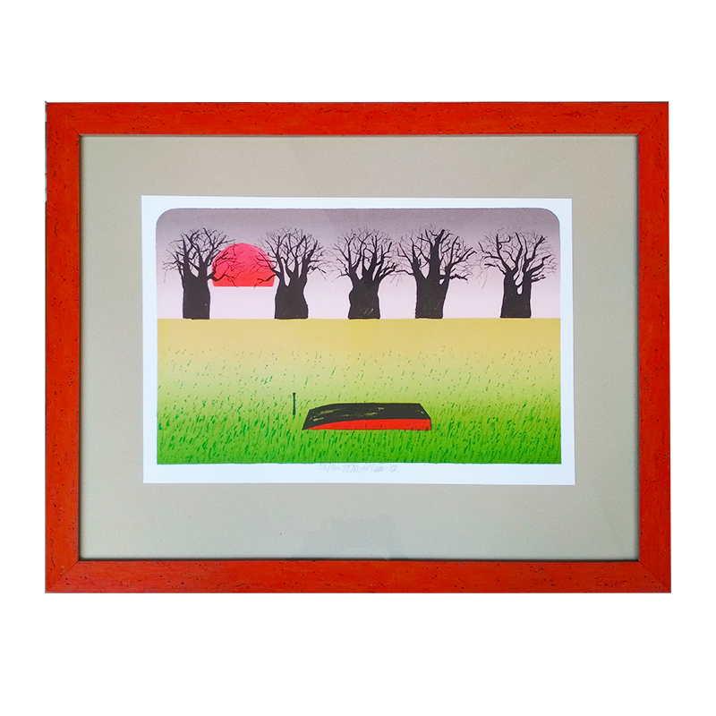 Červená pramice | Tomáš Bím | 75x60cm (Zarámovaný obraz)